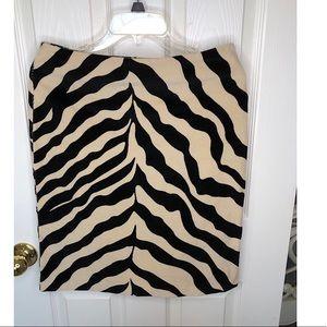 Isaac Mizrahi Zebra Print Pencil Skirt size 8